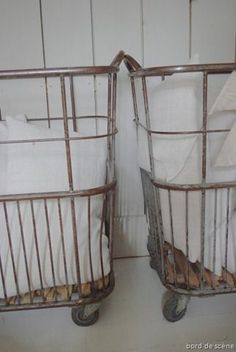 A most lovely pair of laundry carts ...