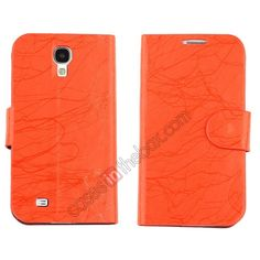 PU Leather Flip Wallet Case Cover Stand For Samsung Galaxy S4 SIV I9500 - Red US$6.99