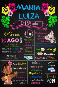 Cheapest Wedding Venues In Ma Moana Theme Birthday, Luau Birthday, 2nd Birthday Parties, Festa Moana Baby, Hawaiian Luau Party, Moana Party, Baptism Party, Birthday Chalkboard, Birthday Invitations