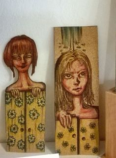 handpainted bookmarks made by cork