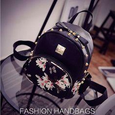 Cute Bags Women Black Leather School Travel Shoulder Bag Mochila Mini  Backpacks 88d9be88df725