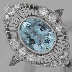 Edwardian aquamarine ring