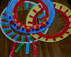 african paper plate necklace 4