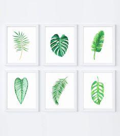 Set of 6 tropical prints, including the ever popular monstera, palm leaf, banana leaf, and more. Instant download!