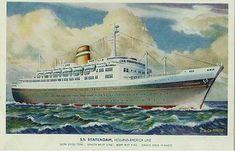 Holland America Ocean Liner Postcards Holland America Line, Rotterdam, Postcards, Ocean, Ships, America, The Ocean, Sea, Greeting Card