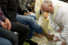 On Holy Thursday, March 28, 2013,  Pope Francis washed the feet of 12 criminal offenders. That included two women, one a Serbian Muslim.