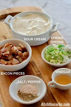 IN-CRED-IBLE low-carb bacon broccoli cauliflower salad recipe, dripping in sour cream. Perfect for family meals and summer BBQ's. #baconsalad #keto #lowcarb #keto #glutenfree #lchf