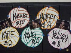 I Kid You Not: Photos - Valley Center girls volleyball senior night 2010 - JOLİE Volleyball Locker Signs, Volleyball Locker Decorations, Volleyball Senior Gifts, Volleyball Party, Volleyball Posters, Senior Night Gifts, Senior Day, Volleyball Mom, Cheerleading