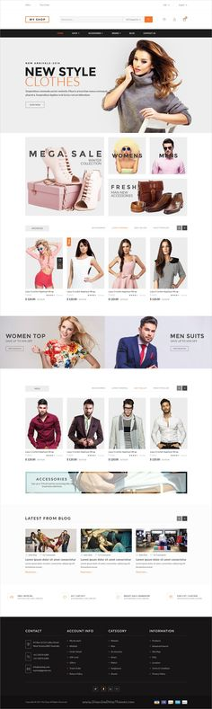 My shop is a creative and modern design #PSD template for #webdev amazing #eCommerce websites download now➩ https://themeforest.net/item/my-shop/19322437?ref=Datasata