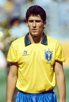 Sport Football 1990 World Cup in Italy Turin 24th June 1990 Brazil 0 v Argentina 1 Jorghino Brazil defender