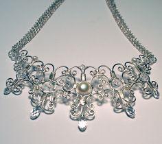 Wire Filigree Necklace