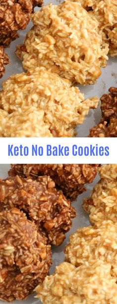 Keto No Bake Cookies #Dessert#Keto#No Bake