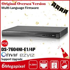 102.00$  Watch now - http://aliyd6.shopchina.info/go.php?t=32792763370 - Hik  NVR 4CH 8CH 16CH POE HD DS-7604NI-E1/4P DS-7608NI-E2/8P DS-7616NI-E2/8P ds 7604 7608 7616 ds-7604 ds-7608 ds-7616  #buyonline