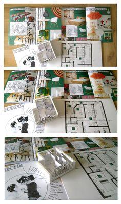 Appartement te Amsterdam. Opdracht 5 Interieurontwerpen. Leparello vormgeving. Styling, Tekeningen, Doelgroep & Maquette.
