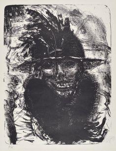 Nächtliche Erscheinung  OTTO DIX  litografia esta imagen ha sido generada mediante modelación.