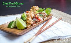 Thai Fried Quinoa with Spicy Peanut Sauce