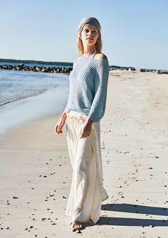 1705 Tynn Line. Strikket Raglangenser Raglan Pullover, Dere, Lace Skirt, Knitwear, That Look, Aqua, Street Style, Knitting, Skirts