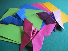 Angolino di Liana: Decorazioni Battesimo Fai da Te: Farfalle di origami