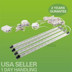 4PCs Kitchen Under Cabinet Counter LED Light Bar Kit Warm White Energy Saving #adaUSASeller