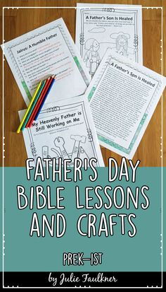 Father's Day Bible Unit for Kids, Lessons, Coloring, Crafts, Preschool Crafts for Kids, Gift for Dad, Christian Faith, Sunday School Lessons