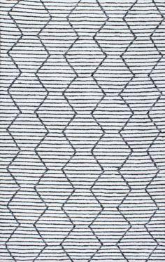 Rugs USA Apex Striped AL01 White Rug