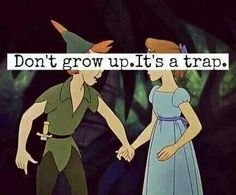 Peter Pan.  Like I said.. I could go for a few shots of vodka.. After that settles in all I want is Ovaltine and Peter Pan
