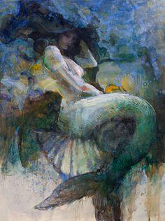 Kai Fine Art is an art website, shows painting and illustration works all over the world. Fantasy Mermaids, Real Mermaids, Mermaids And Mermen, Sirene Tattoo, Norse Goddess, Mermaid Pictures, Mermaid Tale, Merfolk, Illustrations