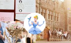 What Your Favorite Disney Princess Says About Your Wedding Style | Photo by: Clockwise from top left: Still-Life Media Photography; BinaryFlips Photography; Amy DeYoung | TheKnot.com