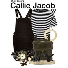 Inspired by Maia Mitchell as Callie Jacob on The Fosters. Tv Show Outfits, Fandom Outfits, Going Out Outfits, Cool Outfits, Movie Inspired Outfits, Daytime Outfit, School Fashion, Style Icons, The Fosters