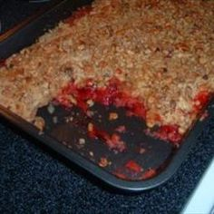 Strawberry Dump Cake on BigOven: This is so quick and Easy. For anyones busy schedule !   If unexpected company  arrives, this is a great dessert.