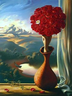 L'Attesa delle Rose, Vladimir Kush - Rose Awaiting