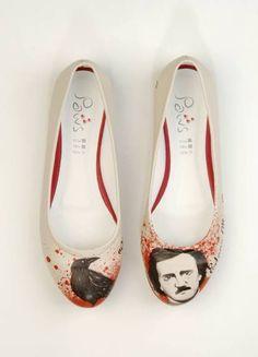 Dogo shoes Edgar Allan Poe #shoes #flats #author #dogo #dogostore #dogoshoes