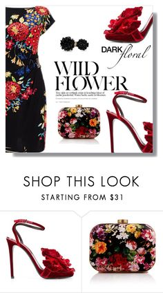 """""""Dark Floral"""" by letiperez-reall ❤ liked on Polyvore featuring Ermanno Scervino, WithChic and Simone Rocha"""