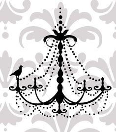 Elegant chandelier vinyl wall decal by edithandelizabeth on Etsy