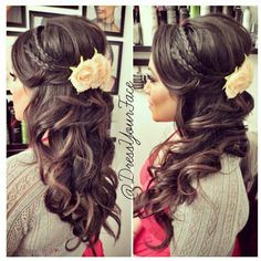 Pretty wedding hair without the big flower <3