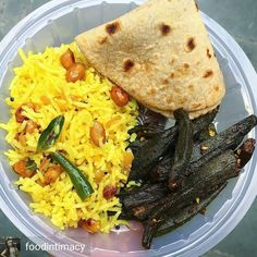 Via @foodintimacy -  Food scenes ! . . Tangy Lemon Rice with peanuts and curry leaves Bharvan Bhindi with gorgeous Masaala and Chapati ! . . North meets south !  Which one do you like? Good morning !  .  @foodintimacy for the love of food . . . . . . . . . . . . #foodintimacy  #lunch #food  #foodie #foodporn #foodgasm #foodpics #foodphotography #instadaily #instapic #instafood #foodlover  #likeforlike #delhi_igers #delicious #delhigram  #yummy #followforfollow #vegan #like4like…