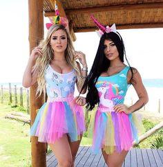 Mini Coleção de CARNAVAL!!! Varias estampas e cores de bodys e sainhas!! #carnaval #fantasias #unicornio #unicornparty