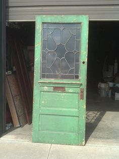 1/2 beveled glass entrance door mail slot painted (ED 10) & Vintage Large Wooden House Front Door With Mail Letter Slot ... Pezcame.Com