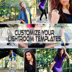 If you download the free Lightroom Templates on this site, here is how you can customize them!