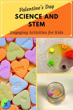These 10 engaging Valentine's Day science and STEM activities are so much fun.  Build a candy tower or bridge.  Dance candy hearts in soda pops.  Find links to directions for all activities.  Perfect for any age.  Use the activities for a Valentine's classroom party or science lab.  Create heart crystals, Valentine Circuits and more. Kindergarten Science Activities, Fun Activities For Kids, Stem Activities, Winter Activities, Science Valentines, Valentine Activities, Chemistry For Kids, Fourth Grade Science, Upper Elementary Resources