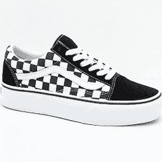 Vans Old Skool Black   White Checkered Platform Skate Shoes - Female - 8 -  Shoes - Skate Shoes At Zumiez 4d7c6807ca7
