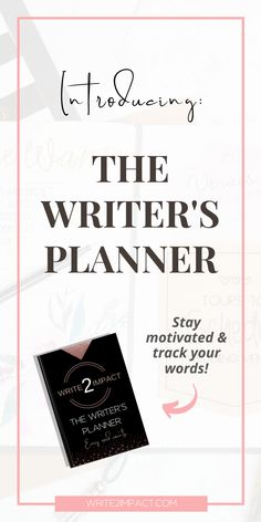 Introducing The Writer's Planner!