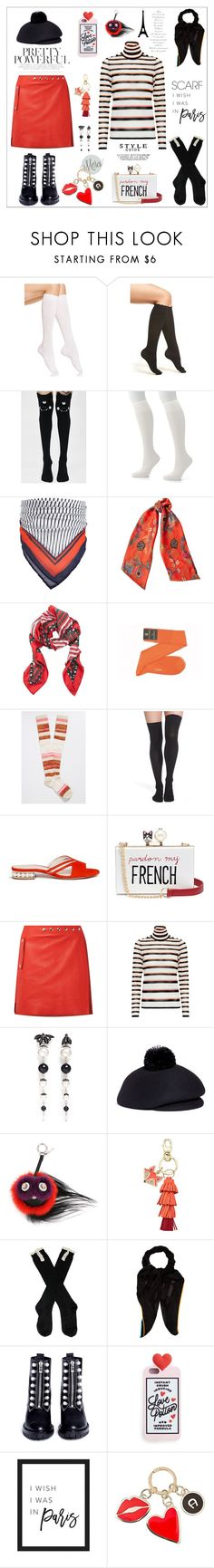 """Paris Scarf"" by yours-styling-best-friend on Polyvore featuring HUE, Nordstrom, Killstar, Hanes, Forever 21, Etro, Fendi, maurices, Nicholas Kirkwood and Cecilia Ma"