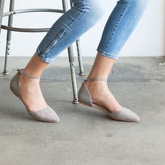 The D'Orsay Flat in grey #loveloft https://www.amazon.com/gp/search?ie=UTF8&tag=motorsports06-20&linkCode=ur2&linkId=3c8959b0e3cd9d30b5f52086bcd35447&camp=1789&creative=9325&index=apparel&keywords=shoes