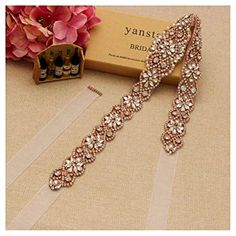 Bridal Rhinestone Wedding Belts Hand Clear Crystal Length For Bridal Gowns - Rose Gold-white Organza Rhinestone Wedding, Silver Rhinestone, Bridal Accessories, Women Accessories, Silver Roses, Rose Gold, Wedding Belts, Presents For Friends, Belts For Women