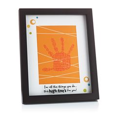 Hallmark - Magic Prints collection doubles as a fun activity for kids and adults to do together. Use the included Magic Mitt, Magic Print paper and the clear, mess-free ink solution from Crayola® to capture a child's handprint. Once stamped, the print will reveal the hidden words on the paper. Display the print behind the mat in the shadowbox frame for a totally unique gift. #ShopSouthlands