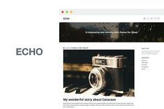 Echo by Volt Themes on @creativemarket