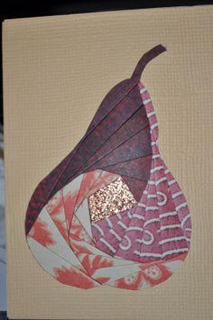 Pear - Iris paper folding / Iris paper folding patterns