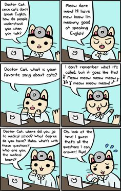 Doctor Cat » Ask Doctor Cat Part 2 << doctor cat is awesome! cutest comic strip ever!! ^_^
