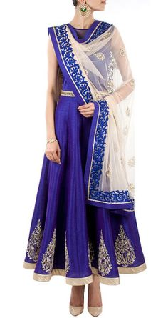 Royal blue color long anarkali salwar kameez – Panache Haute Couture http://panachehautecouture.co.in/collections/suits/products/royal-blue-color-long-anarkali-salwar-kameez